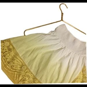 Free People SP Ivory Yellow Ombré Mini Skirt